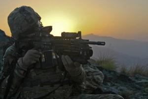 soldier-sunset